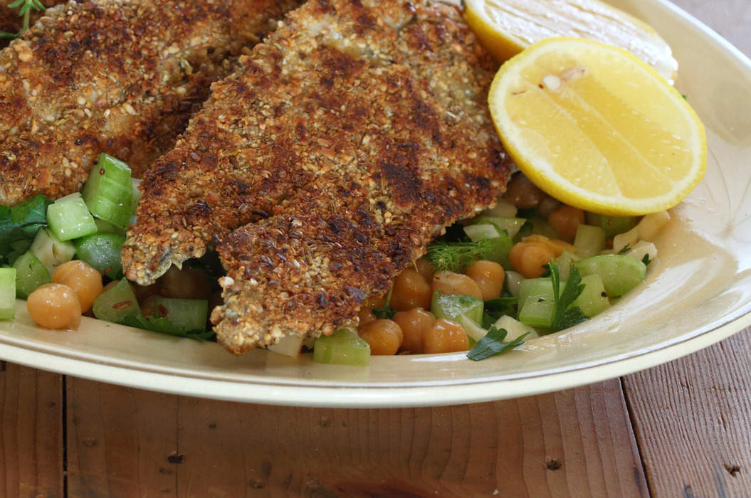 Dukkah_coated_garfish_with_chickpeas_fennel_and_parsley_salad_misc_massive