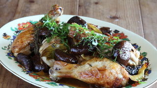 Chicken with Pickled Figs, Lemon and Rosemary