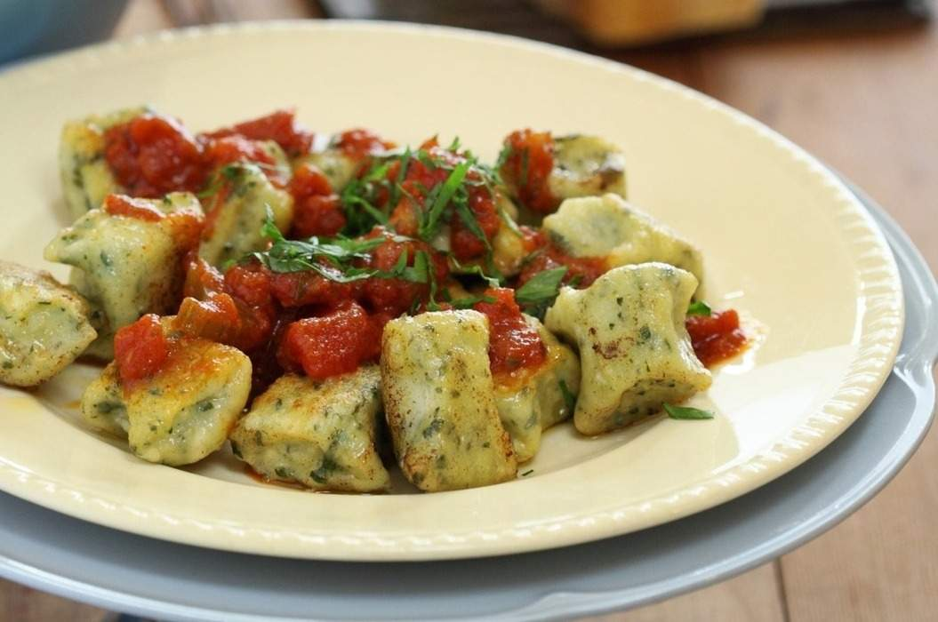Spinach and Ricotta Gnocchi with Tomato and Chilli Sugo - Maggie Beer
