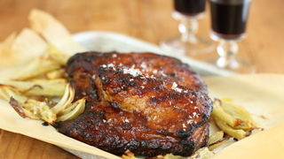Caramelised Pork Belly with Fig Vino Cotto and Roasted Fennel
