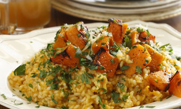 Pumpkin, Verjuice and Extra Virgin Olive Oil Risotto