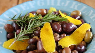 Mixed Olives with Orange and Rosemary