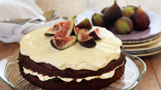 Burnt Fig Jam and Almond Cake