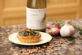 Kale, Preserved Lemon and Pine Nut Tart