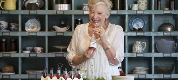 Maggie with Sparkling Ruby Cabernet