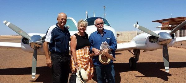 Australia Day Maggie and Colin Coober Pedy Jan 2015