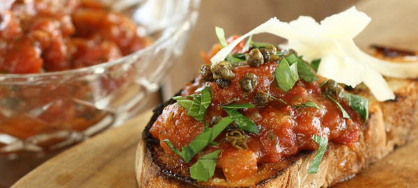 Tomato Basil & Caper Dip - Sharing the Table - Tony Lewis