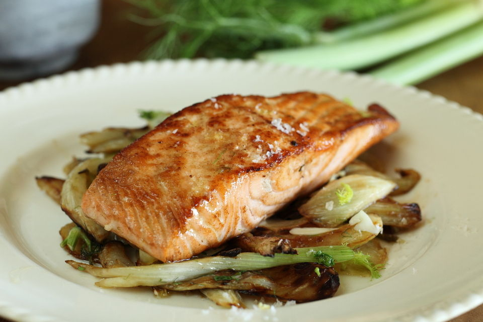 Pan Fried Salmon With Fennel Maggie Beer